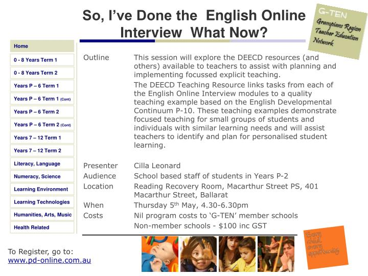 So, I've Done the English Online Interview What Now?