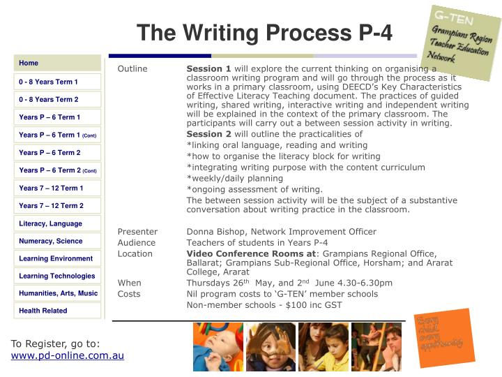 The Writing Process P-4