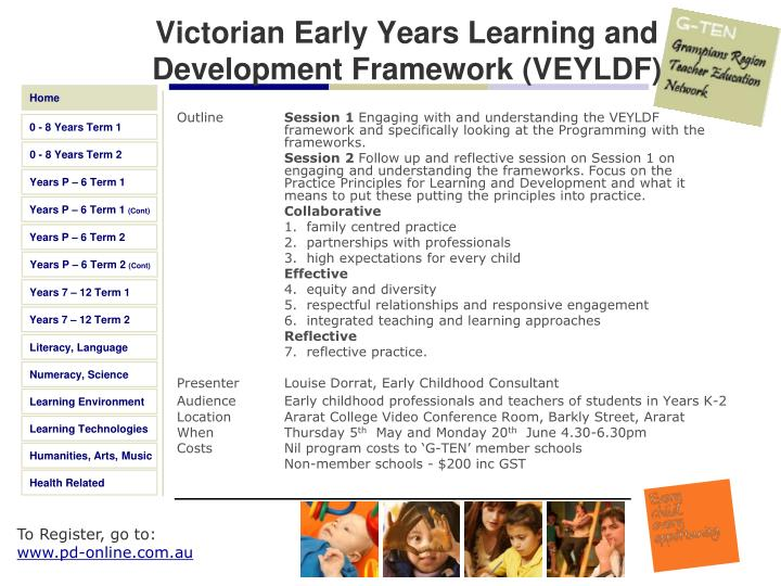 Victorian Early Years Learning and Development Framework (VEYLDF)