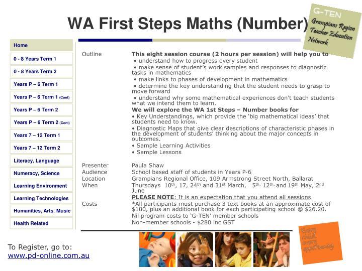 WA First Steps Maths (Number)