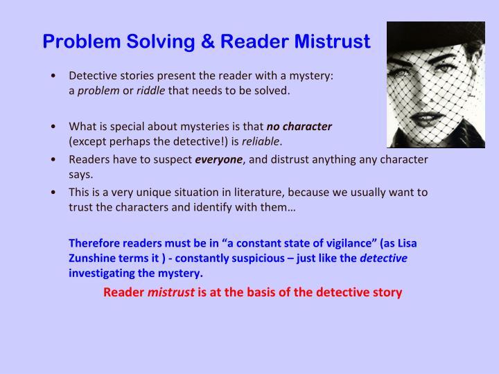 Problem solving reader mistrust