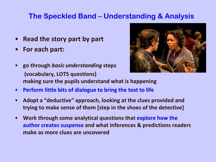 The Speckled Band – Understanding & Analysis