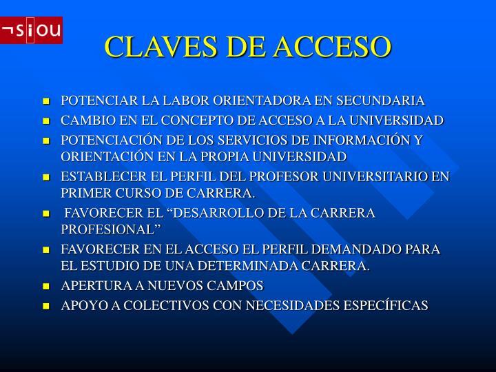 Claves de acceso