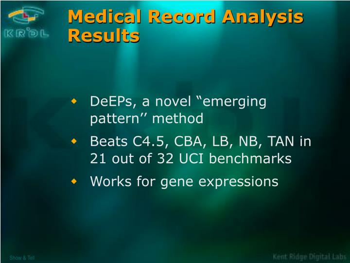 Medical Record Analysis Results