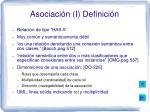 asociaci n i definici n