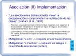 asociaci n ii implementaci n