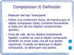 composicion i definici n
