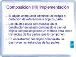 composicion iii implementaci n