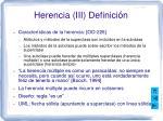 herencia iii definici n