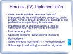 herencia iv implementaci n