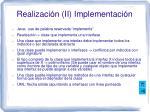 realizaci n ii implementaci n