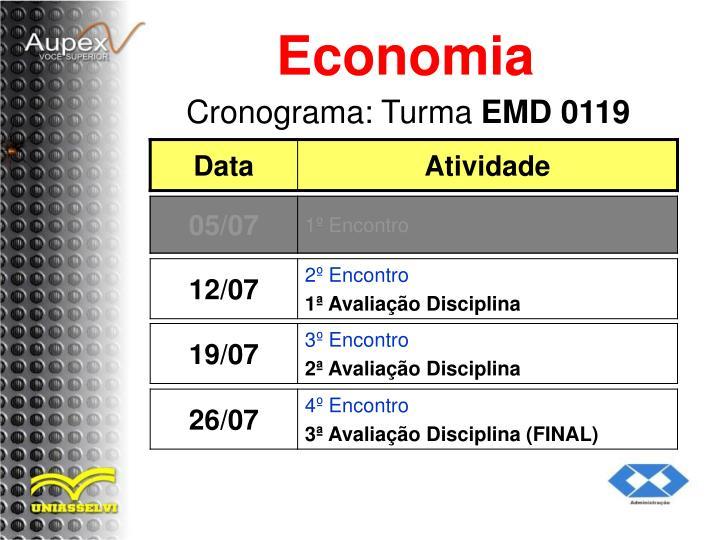 Cronograma turma emd 0119