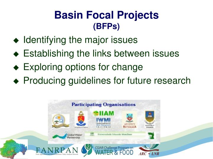 Basin focal projects bfps