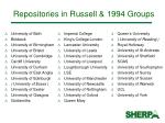 repositories in russell 1994 groups