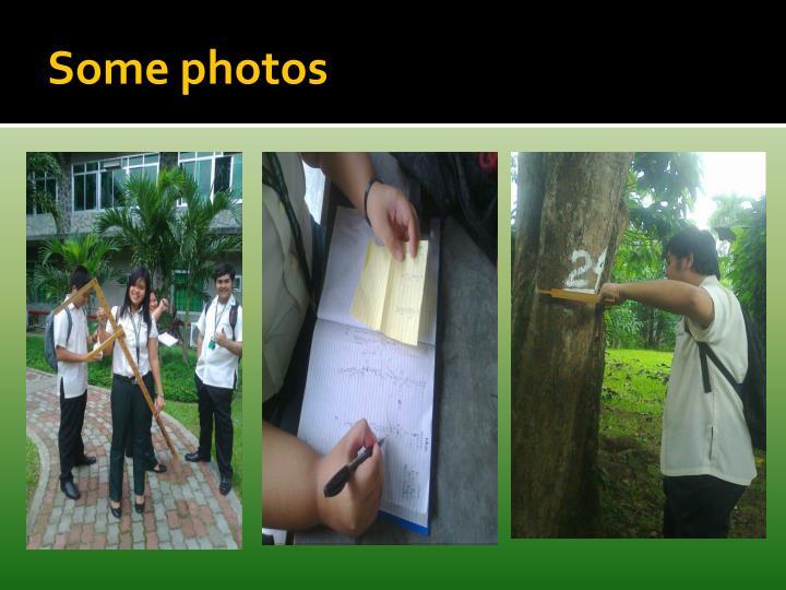 Some photos