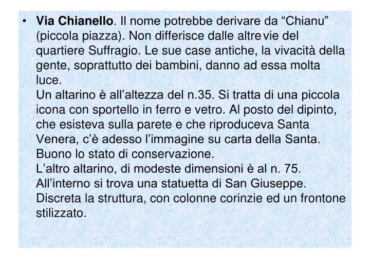 Via Chianello