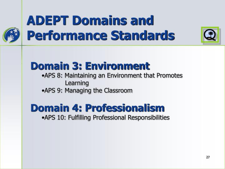 ADEPT Domains and Performance Standards