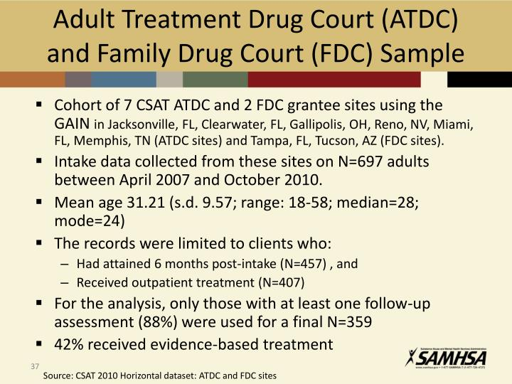 Adult Treatment Drug Court (ATDC) and Family Drug Court (FDC) Sample