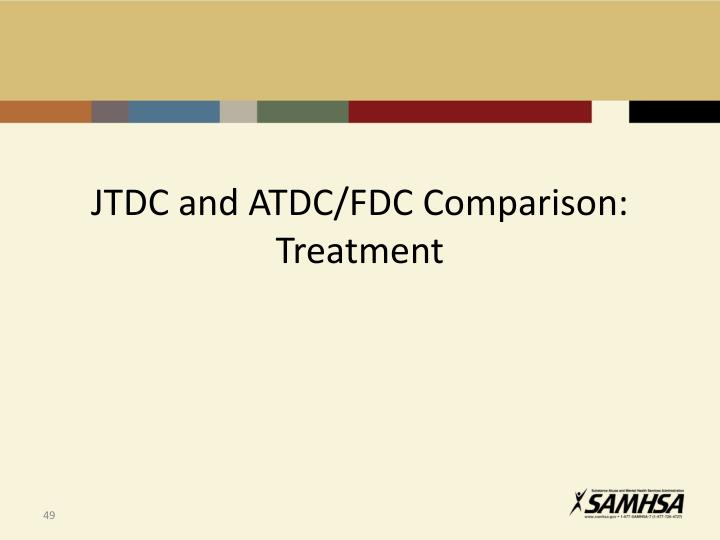 JTDC and ATDC/FDC Comparison: Treatment