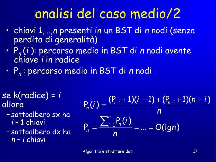 analisi del caso medio/2