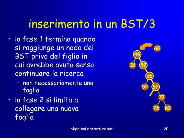 inserimento in un BST/3