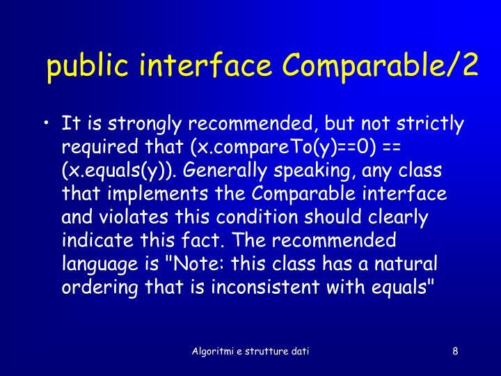 public interface Comparable/2