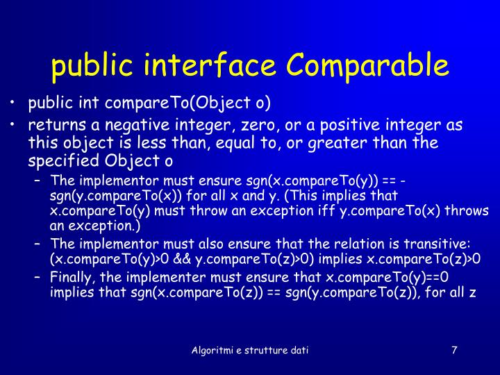 public interface Comparable