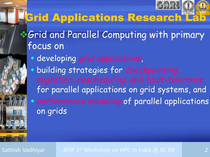 Grid applications research lab