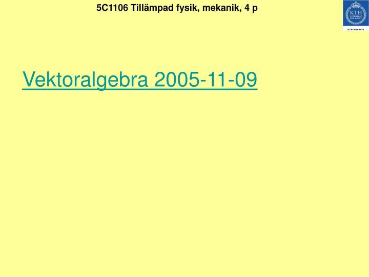 Vektoralgebra 2005-11-09