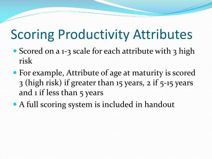 Scoring Productivity Attributes