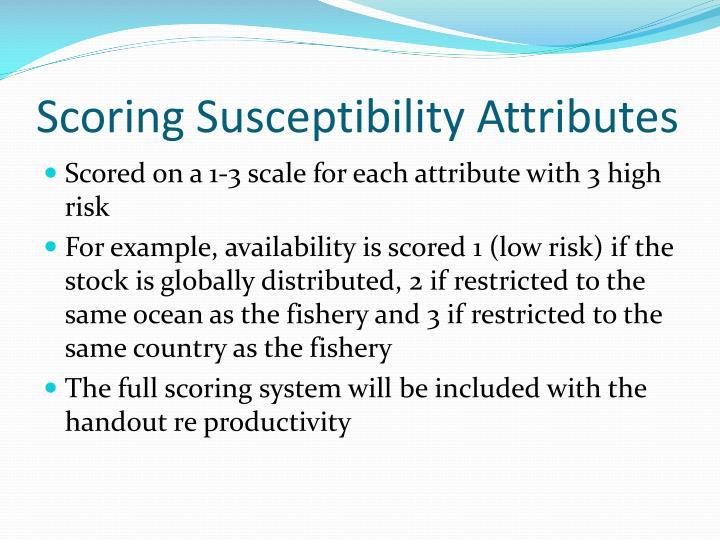 Scoring Susceptibility Attributes