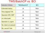 tws batchcp vs bci6