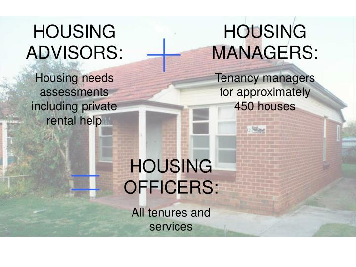 HOUSING ADVISORS: