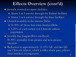 effects overview cont d