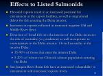 effects to listed salmonids