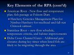 key elements of the rpa cont d
