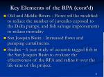 key elements of the rpa cont d1