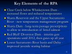 key elements of the rpa
