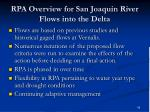 rpa overview for san joaquin river flows into the delta
