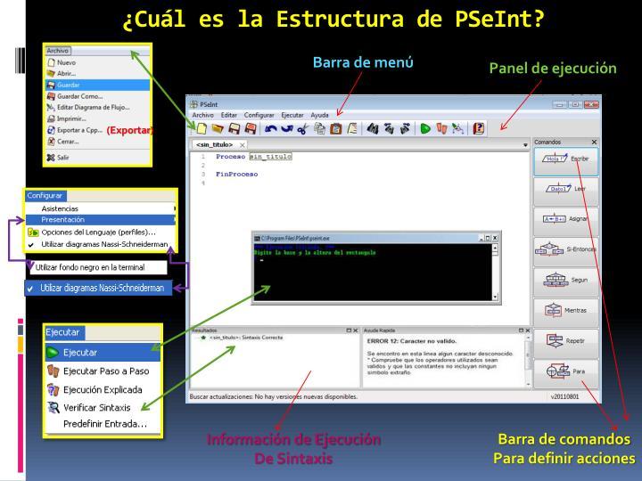 ¿Cuál es la Estructura de PSeInt?