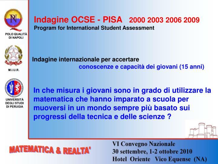 Indagine OCSE - PISA