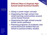 different ways to organize high school career technical studies