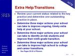 extra help transitions