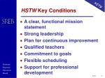 hstw key conditions