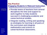 key practice engaging students in relevant instruction2