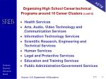 organizing high school career technical programs around 16 career clusters cont d