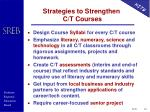 strategies to strengthen c t courses
