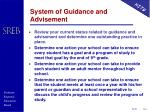 system of guidance and advisement