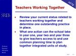 teachers working together