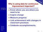 why is using data for continuous improvement important